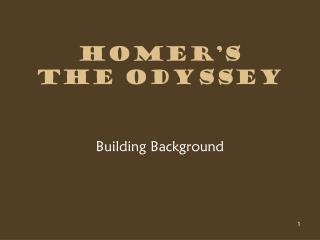 Homer�s  The Odyssey
