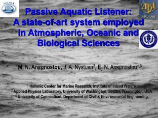Passive Aquatic Listener: