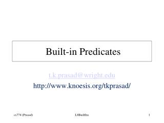Built-in Predicates