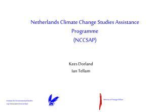 Netherlands Climate Change Studies Assistance Programme (NCCSAP)