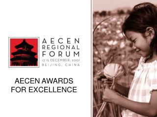 AECEN AWARDS FOR EXCELLENCE