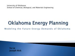 Oklahoma Energy Planning
