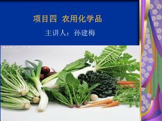 项目四   农用化学品