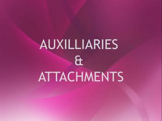 AUXILLIARIES  &  ATTACHMENTS