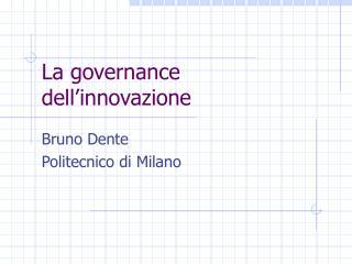 La governance dell'innovazione