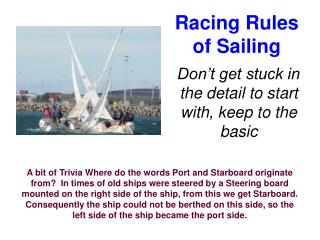 Racing Rules of Sailing