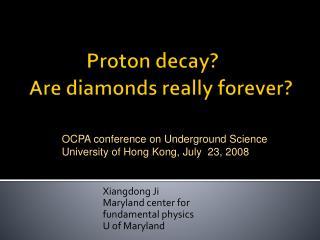 Proton decay?