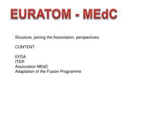 EURATOM -  MEdC