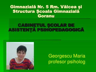 Georgescu Maria profesor psiholog