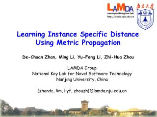 Learning Instance Specific Distance Using Metric Propagation