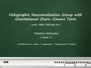 Holographic Renormalization Group with Gravitational Chern-Simons Term