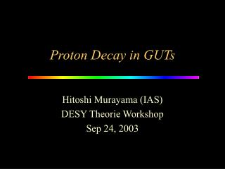 Proton Decay in GUTs