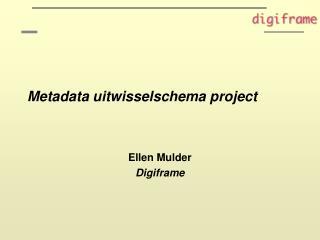 Metadata uitwisselschema project