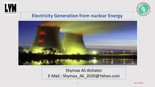 Electricity Generation from nuclear Energy