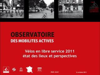 Vélos en libre service 2011 état des lieux et perspectives