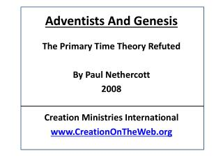 Adventists And Genesis