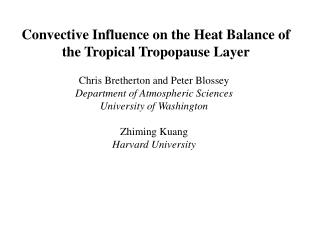 Convective Influence on the Heat Balance of the Tropical Tropopause Layer