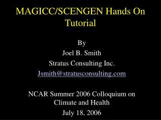 MAGICC/SCENGEN Hands On Tutorial