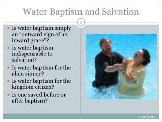 Water Baptism and Salvation
