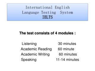 International English Language Testing System IELTS