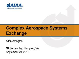 Complex Aerospace Systems Exchange