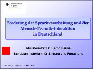 Förderung der Sprachverarbeitung und der Mensch-Technik-Interaktion in Deutschland
