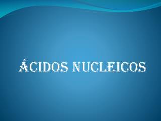 �cidos  nucleicos