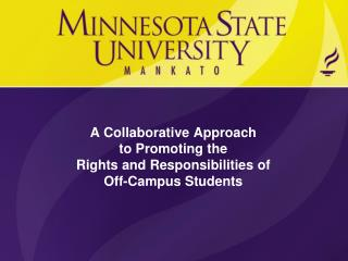 A Collaborative Approach to Promoting the Rights and Responsibilities of Off-Campus Students
