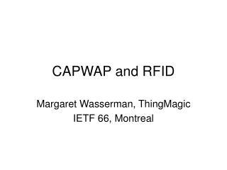 CAPWAP and RFID