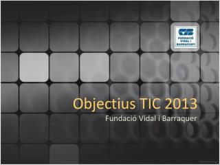 Objectius TIC 2013