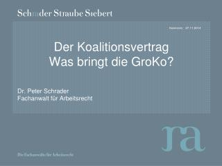 Der Koalitionsvertrag Was bringt die GroKo?