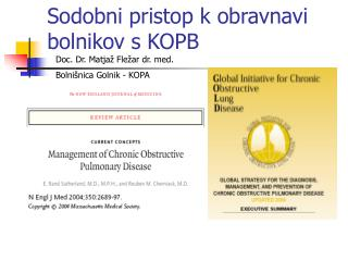 Sodobni pristop k obravnavi bolnikov s KOPB
