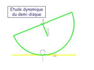 Etude dynamique du demi-disque