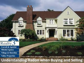 Understanding Radon when Buying and Selling
