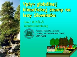 Vplyv  globálnej klimatickej zmeny na lesy Slovenska