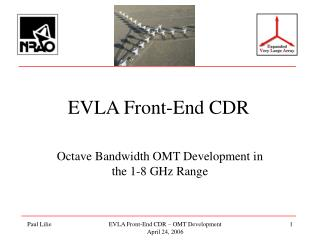 EVLA Front-End CDR
