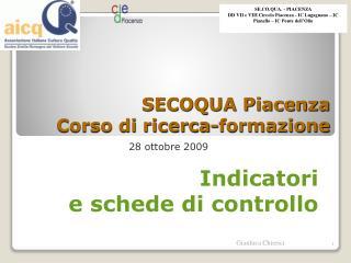 SECOQUA Piacenza Corso di ricerca-formazione