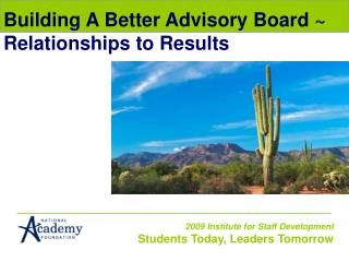 Building A Better Advisory Board ~ Relationships to Results