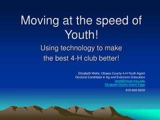 Moving at the speed of Youth