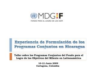 Experiencia de Formulación de los Programas Conjuntos en Nicaragua