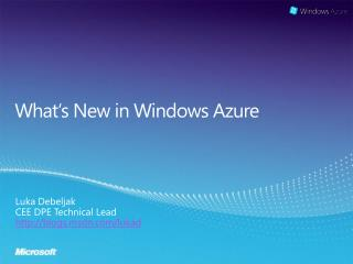What�s New in Windows Azure
