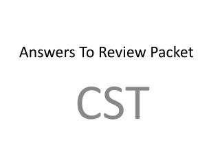 Answers To Review Packet
