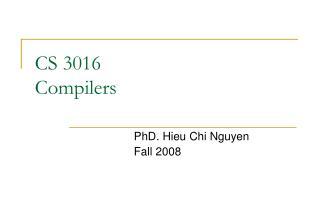 CS 3016 Compilers