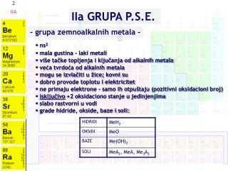 I I a GRUPA P.S.E.