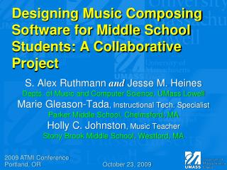 Designing Music Composing Software for Middle School Students: A Collaborative Project