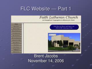 FLC Website � Part 1