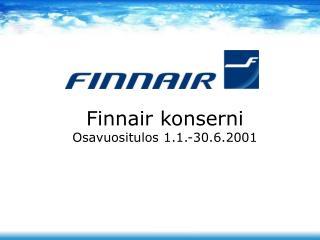 Finnair konserni Osavuositulos 1.1.-30.6.2001