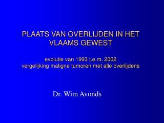 Dr. Wim Avonds