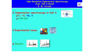 Hypernuclear  spectroscopy in Hall A 12 C,  16 O,  9 Be, H E-07-012 Experimental issues Results