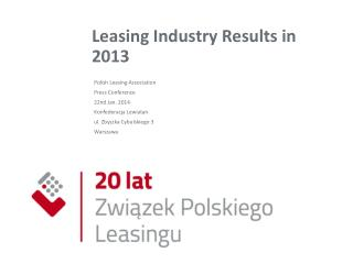 Leasing Industry Results in 2013